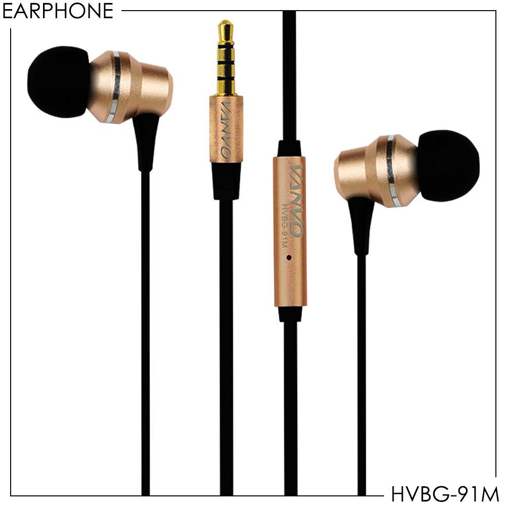 Metal Earphone Stereo Vanvo HVBG-91M