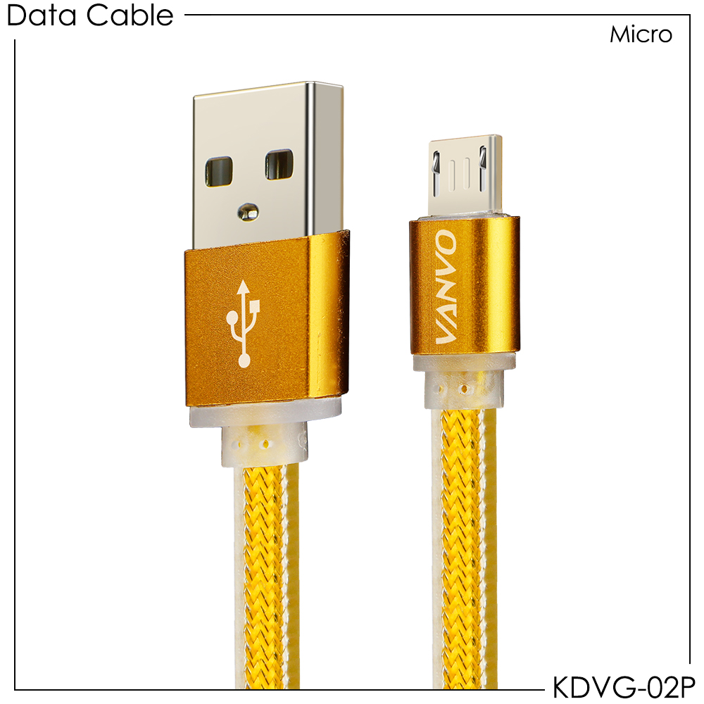USB Kabel Data Gold Vanvo Micro KDVG-02P