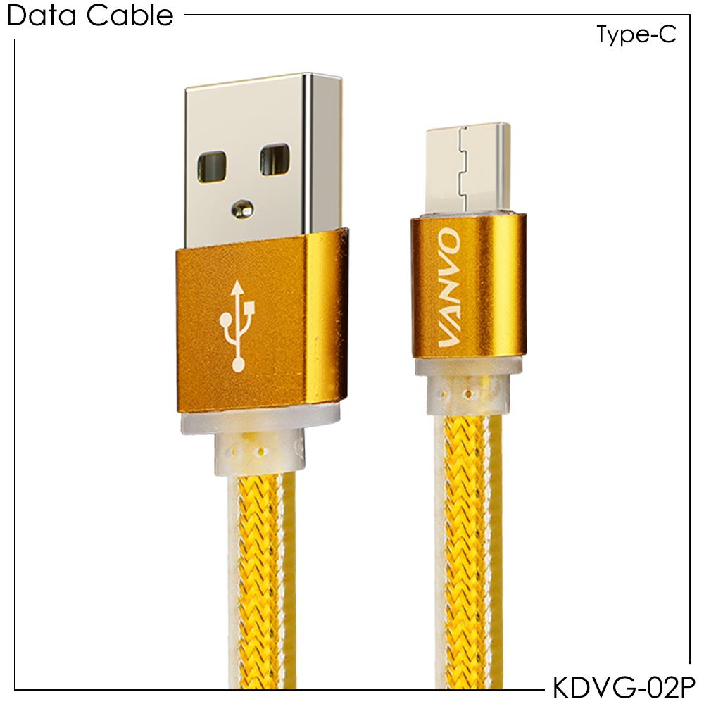 USB Kabel Data Gold Vanvo Type-c KDVG-02P