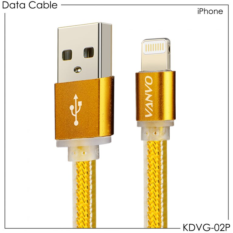 USB Kabel Data Gold Vanvo Lightning (Iphone) KDVG-02P