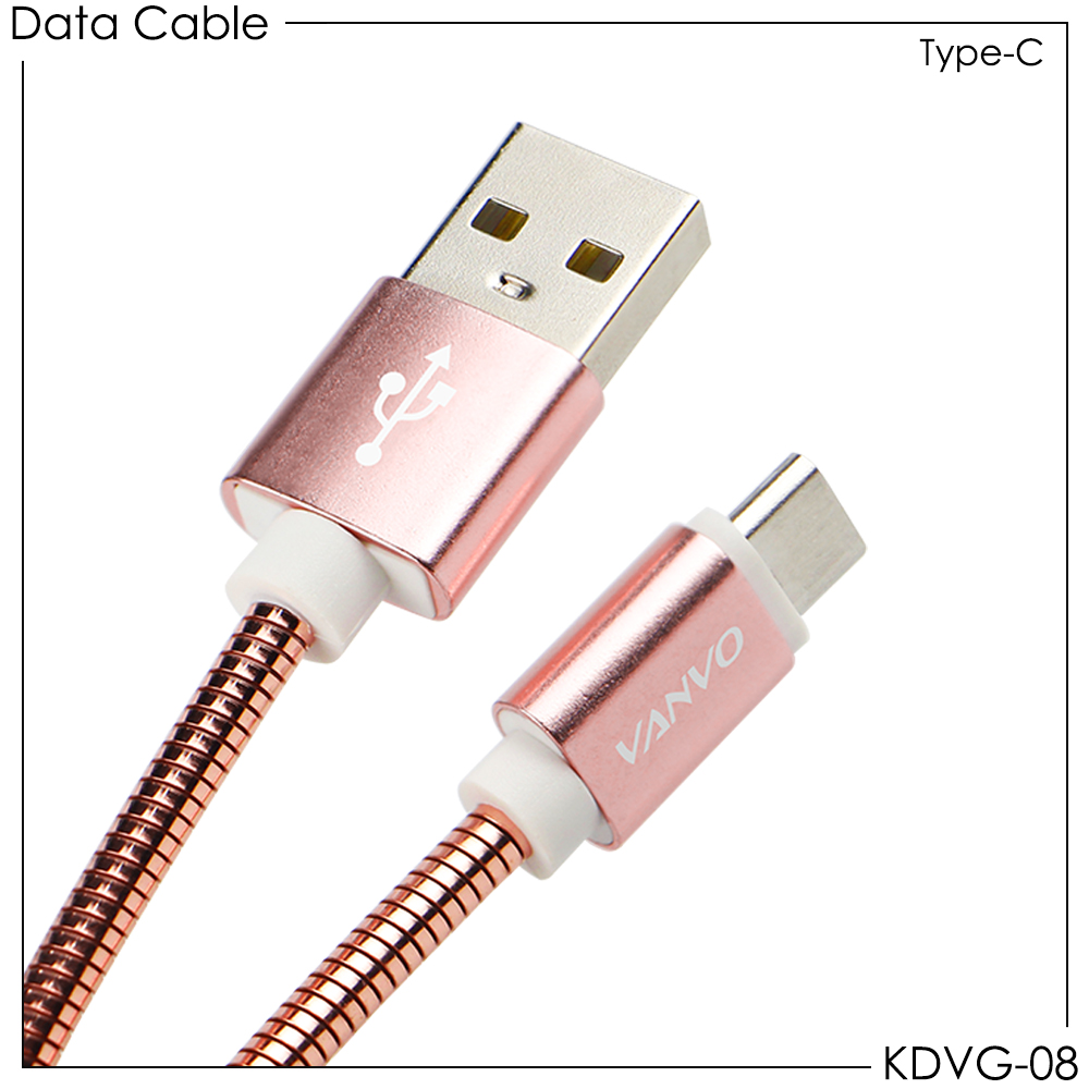 Kabel Data Metal Vanvo KDVG-08 Type-C