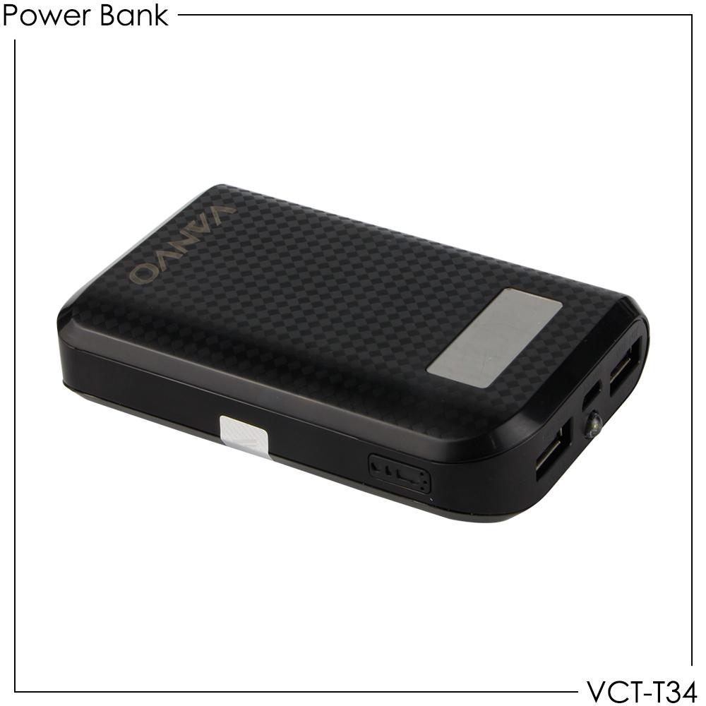 Powerbank Vanvo VCT-T34 6600mAh Dual USB Output
