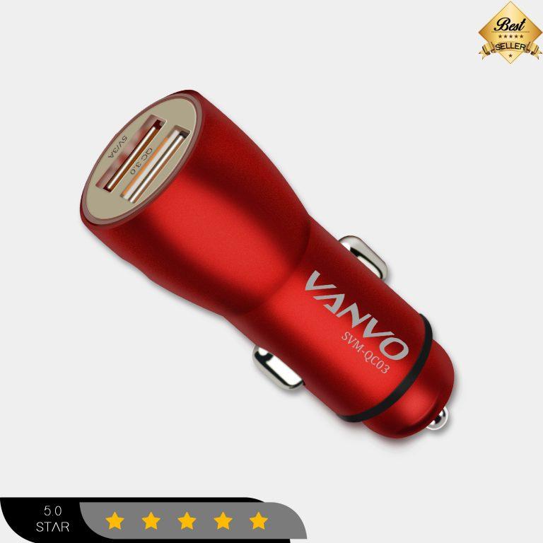 Vanvo charger Mobil Dual USB SVM-QC03