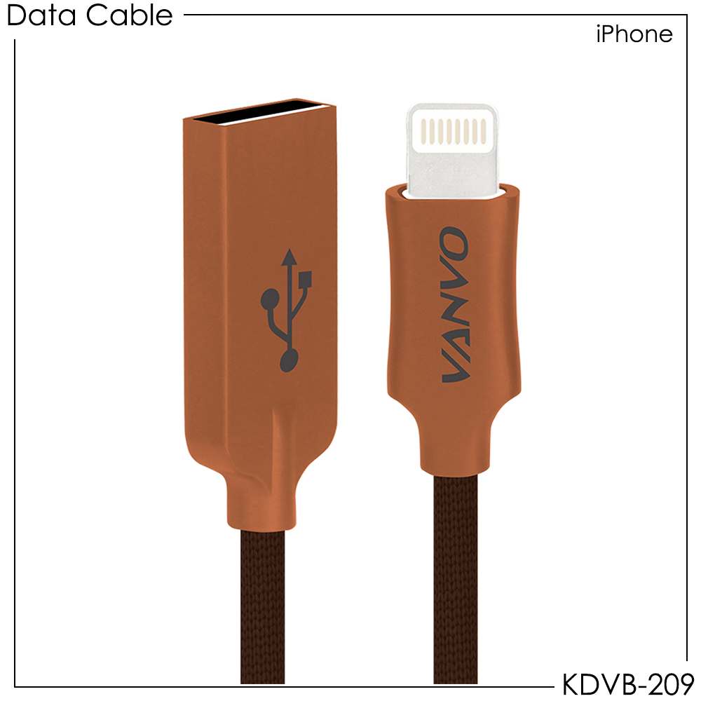 Vanvo Data Cable KDVB-209 for iPhone 100cm
