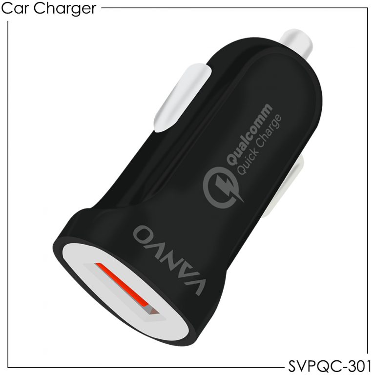 Vanvo Car Charger SVPQC-301 Single USB Port