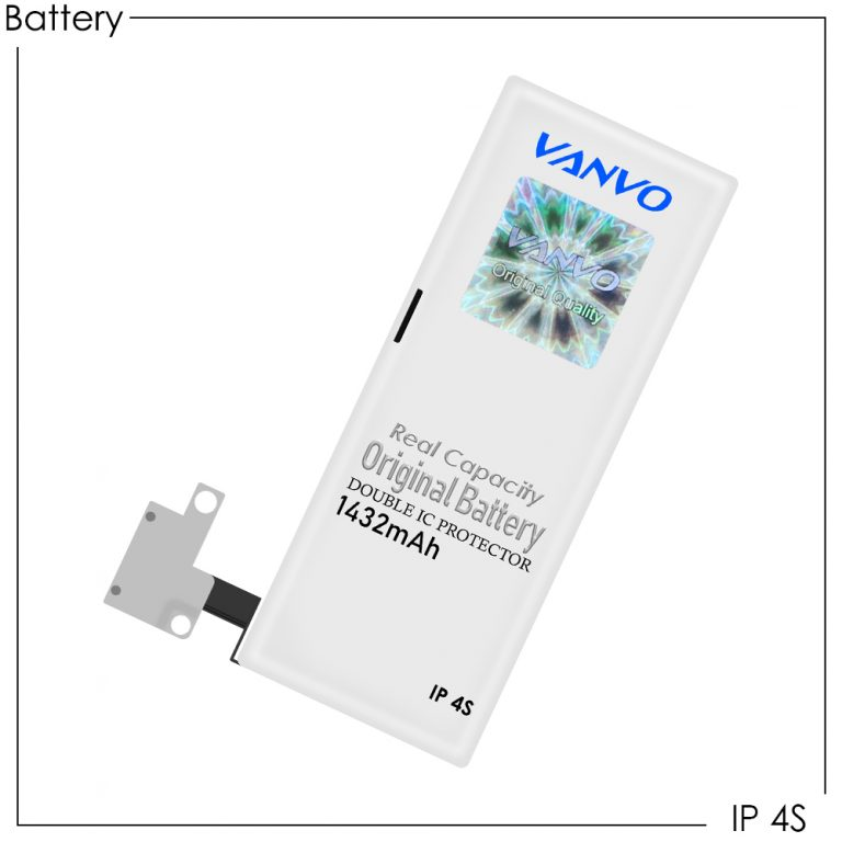Battery Vanvo IP 4S (iPhone 4S) 1432mAh