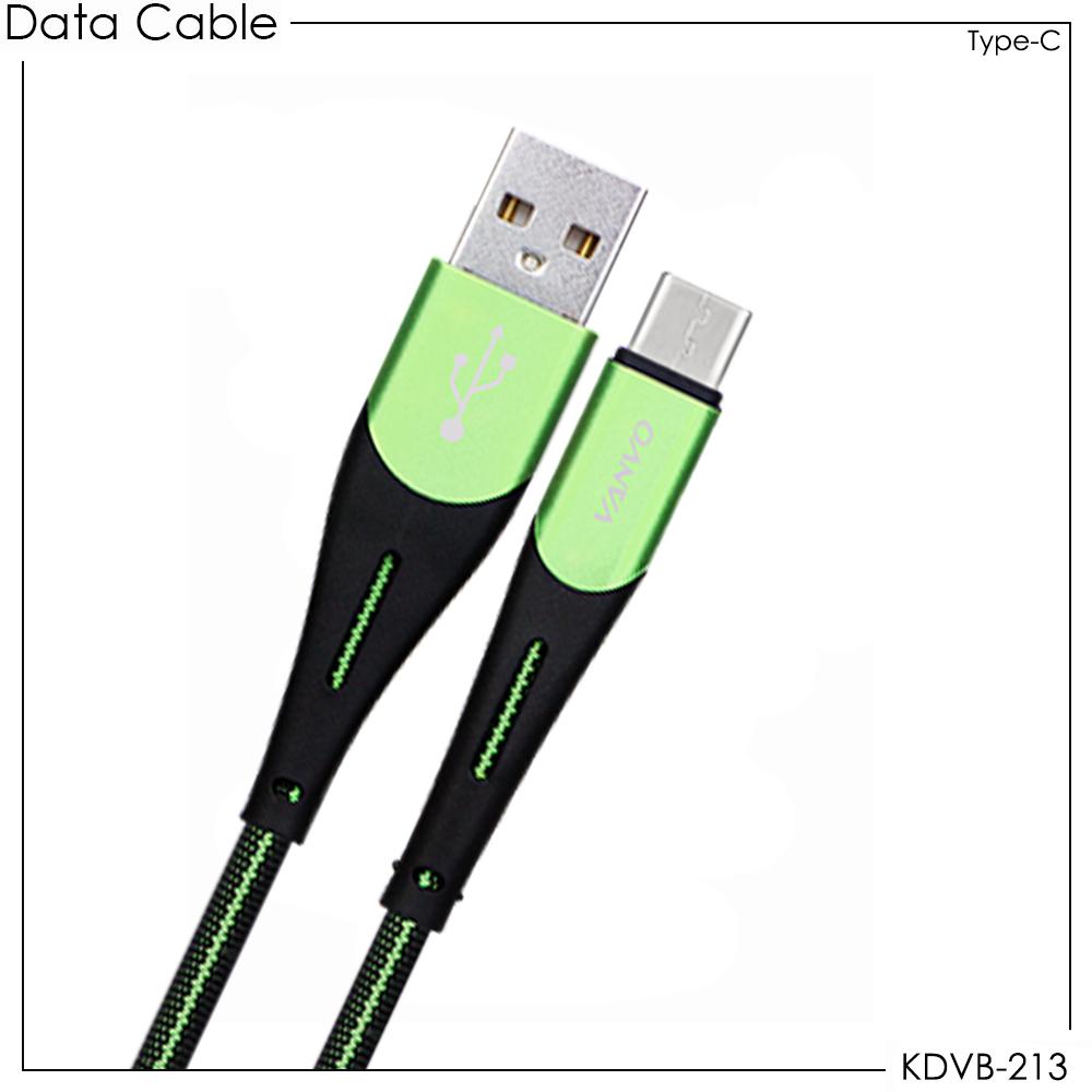 Kabel Data Vanvo KDVB-213 For USB Type-C 100cm