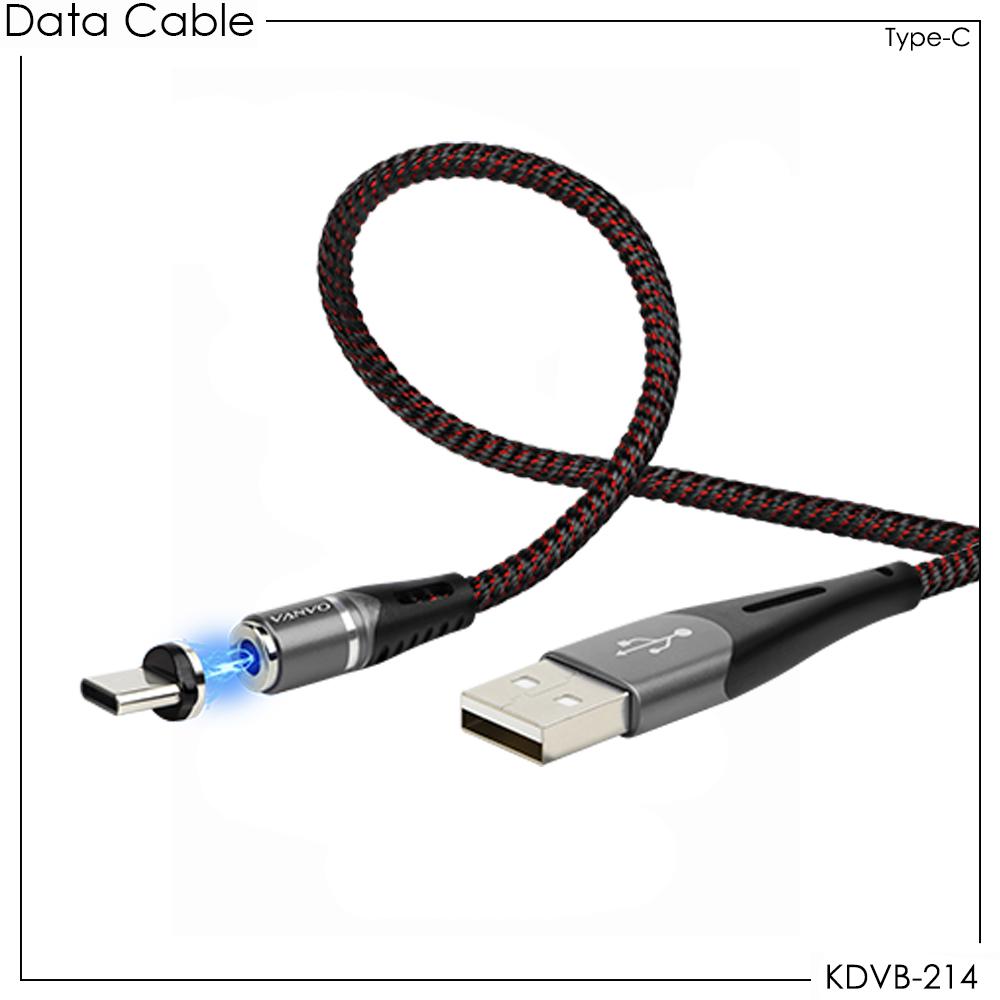 Kabel Data Vanvo Magnetic KDVB-214 For Type-C 100cm